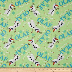 Disney Frozen Olaf Toss Green Fabric
