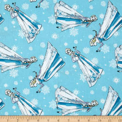 Disney Frozen Sketch Elsa Blue Fabric