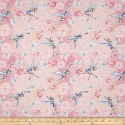 Disney Tinkerbell Tink with Roses Pink Fabric