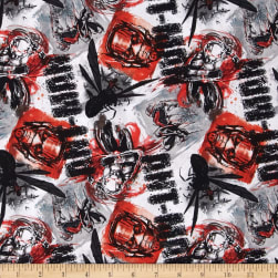 Marvel Ant Man Ant Man Allover Red Fabric