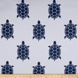RCA Blackout Drapery Fabric Turtles White/Navy