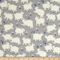 Birch Organic Homestead Little Lamb Fog Fabric