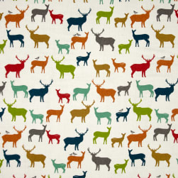 Birch Organic Double Gauze Elk Farm Multi Fabric