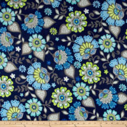Winterfleece Jacobean Floral Multi Fabric