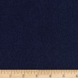 110'' Wide Flannel Quilt Backing Seacoast Navy Fabric