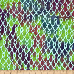 Indian Batik Sarasota Diamond Green/Purple