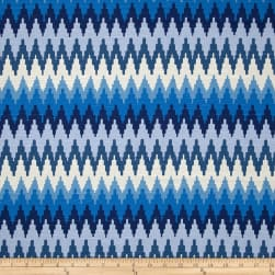 Home Accent Tulin Chevron Blue Willow Fabric