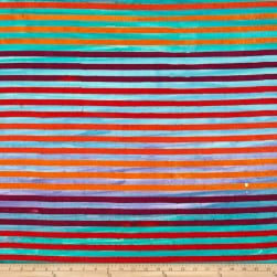 Kaufman Dot Dot Dot Stripe Rainbow
