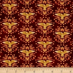 For Love Of Country Eagles Burgundy Fabric