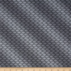 Our Father Peace Fish Geo Grey Fabric