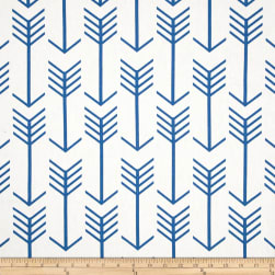 Premier Prints Arrow White/Cobalt Fabric