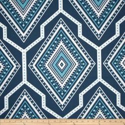 Premier Prints Gita Premier Navy/Coastal Blue Fabric