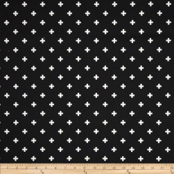 Premier Prints Mini Swiss Cross Black Fabric