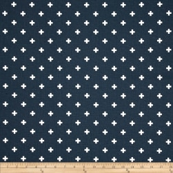 Premier Prints Mini Swiss Cross Premier Navy Fabric