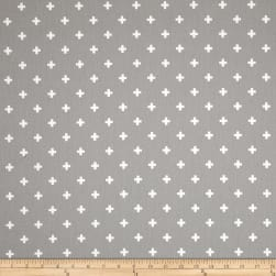 Premier Prints Twill Mini Swiss Cross Storm Fabric