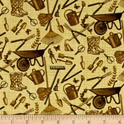 Sew Vintage Garden Treasures Antique Fabric