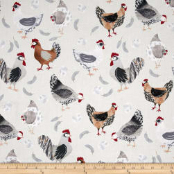 Hen Pals Hen House Neutral Fabric