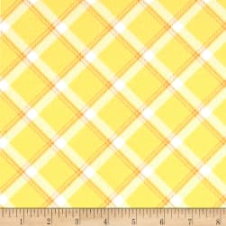 Kanvas Breezy Baby Flannel Lullaby Plaid Sunshine Fabric