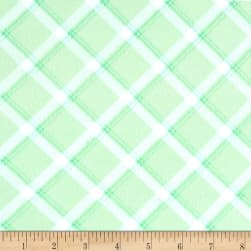 Kanvas Breezy Baby Flannel lullaby Plaid Light Green Fabric
