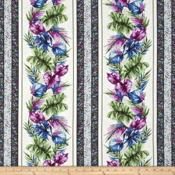 Butterfly Forest Stripe White/Multi