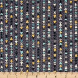 Kanvas All Aboard Triangle Track Grey Fabric