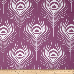 Michael Miller Seedling Peacock Plume Plum Fabric