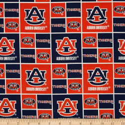 Collegiate Cotton Broadcloth Auburn Tigers