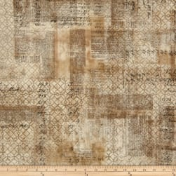 Tim Holtz Eclectic Elements Wallflower Ledger Multi Fabric
