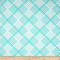 Joel Dewberry Atrium Pyramids Mint Fabric