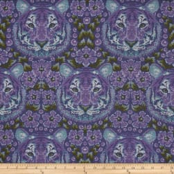 Tula Pink Eden Crouching Tiger Amethyst Fabric
