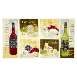 It's Wine O'Clock Craft Panel Multi Fabric
