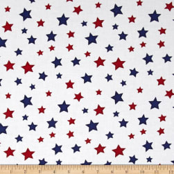 Essentials Star Fall White/Red/Blue Fabric