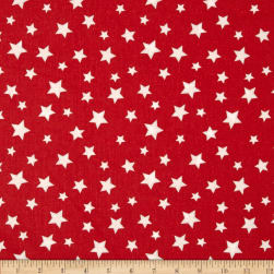 Essentials Star Fall Red/White Fabric