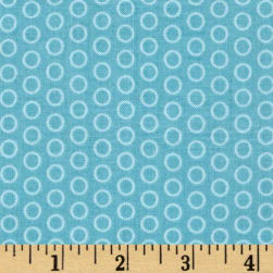 Riley Blake Circle Dot Aqua Fabric