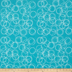 Riley Blake Four Corner Circle Teal Fabric