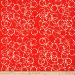 Riley Blake Four Corner Circle Coral Fabric
