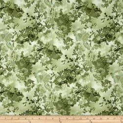 Enchanted Pines Branches Green Fabric