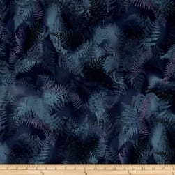 Enchanted Pines Ferns Boysenberry Fabric