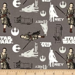 Star Wars The Force Awakens Rey Iron Fabric