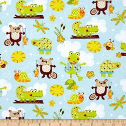 Polka Dot Pond Critters Fabric