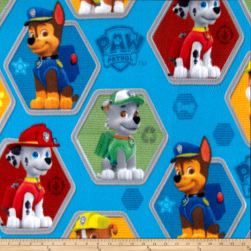 Paw Patrol Fleece Rescue Blue Fabric