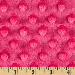 Shannon Minky Cuddle Dimple Extra Wide Fuchsia Fabric