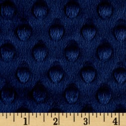 Shannon Minky Cuddle Dimple Extra Wide Navy