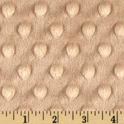 Shannon Minky Cuddle Dimple Extra Wide Camel Fabric