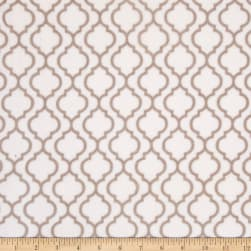 Shannon Minky Trellis Cuddle Ivory/Biscuit
