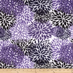 Shannon Premier Prints Minky Cuddle Blooms Indigo Fabric