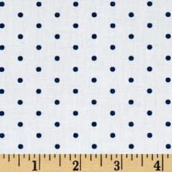 Kaufman Cambridge Cotton Mini Print Dots Navy