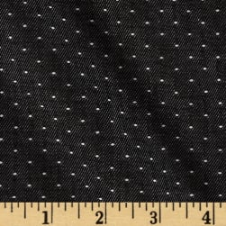Kaufman Denim Dot Black