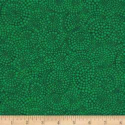 Timeless Treasures Pop Basic Circle Dots Green