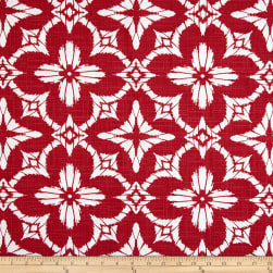 Richloom Indoor/Outdoor Aspidoras Apple Red Fabric